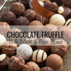 Chocolate Truffle Bulk Melt & Pour Massage Candle Base