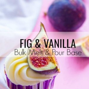 Fig & Vanilla Bulk Melt & Pour Massage Candle Base