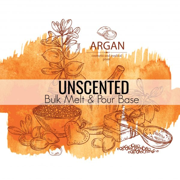 Unscented Bulk Massage Candle Base with Argan Oil