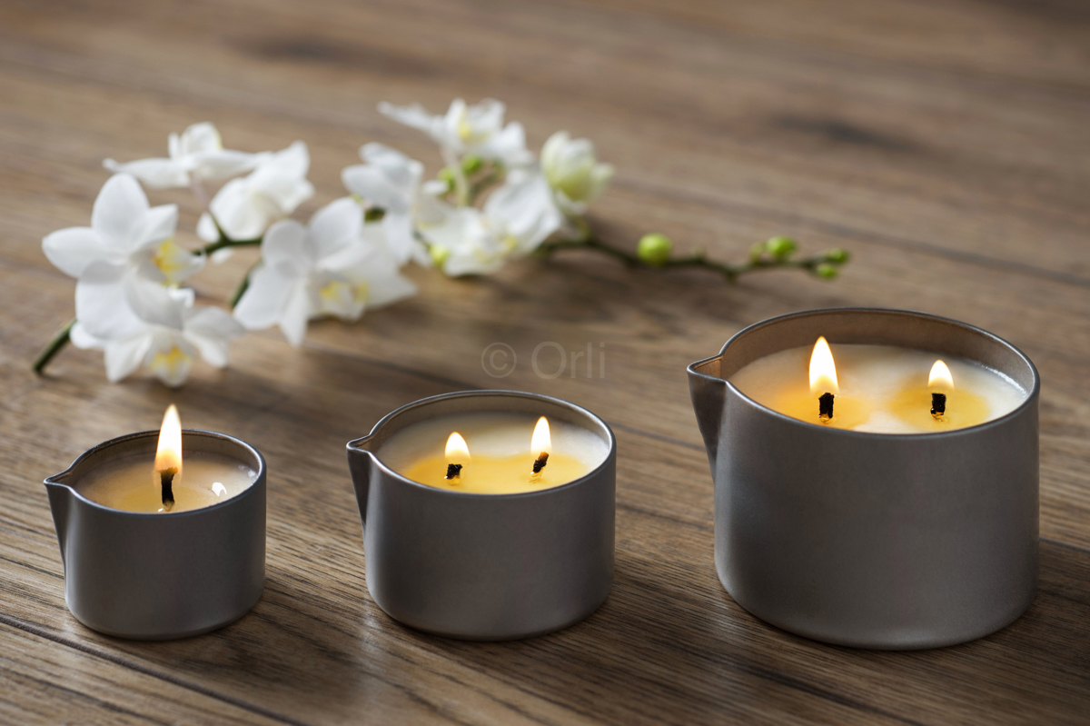 Massage Candle Tins with Pouring Spout